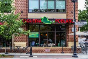 Taqueria el Poblano Restaurant in Columbia Pike, Arlington.