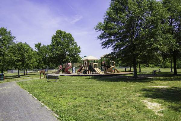 Grist Mill Playground in Mt. Vernon, Virginia.