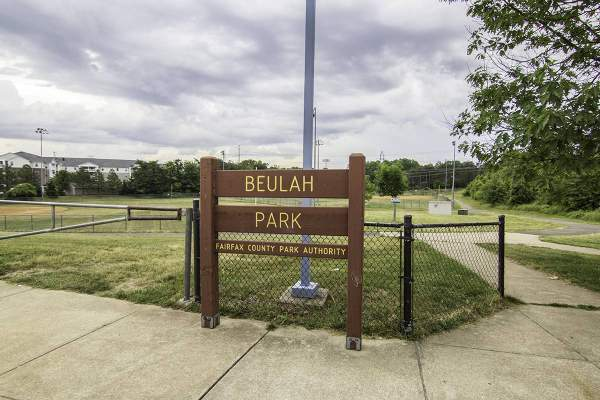 Beulah Park Entrance in Kingstowne, VA.