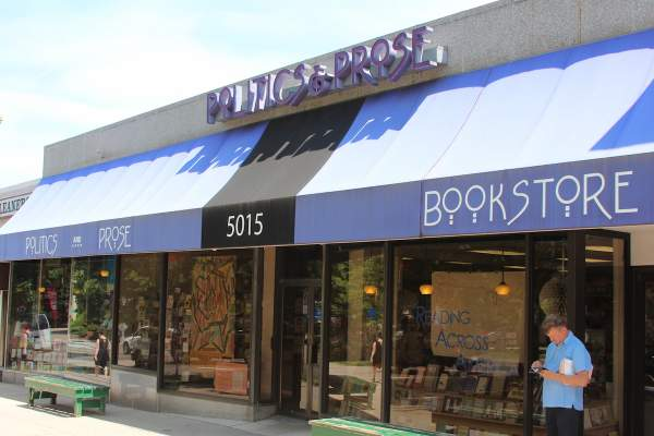 Politics & Prose Book Store in Washington DC's Chevy Chase Neighborhood