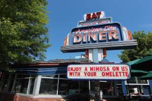 American City Diner in Chevy Chase