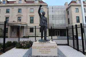 Nelson Mandela Statue in Observatory Park