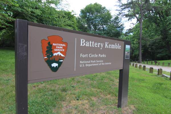 Battery Kemble Park in Washington DC's Palisades/Foxhall Neighborhood