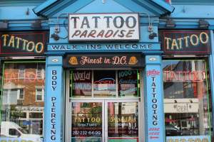 "Adams Morgan ""Tattoo Paradise"" in Washington DC"