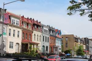 Washington DC's Mount Pleasant Neighborhood Rowhomes