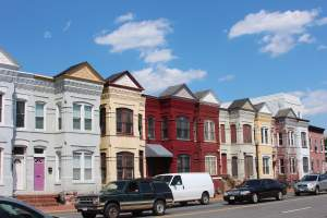 Rowhomes in Washington DC's NOMA/Eckington Neighborhood
