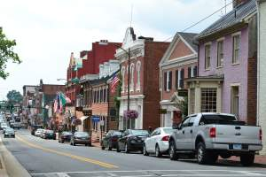 Downtown Leesburg in Loudoun County, VA