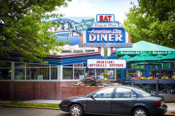 Chevy Chase's American City Diner within DC's 20015 Zip Code
