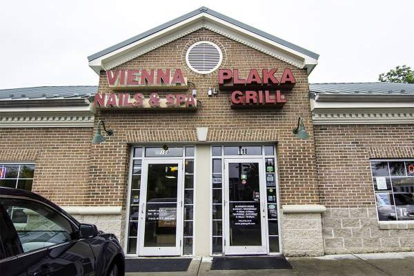 Vienna Nails & Spa and Plaka Grill in Vienna, Virginia.
