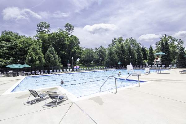 Broadlands Community Pool in Loudon County, Virginia.