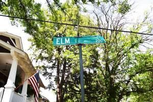 Elm Street in Rosemont