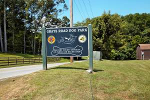 Gray's Road Dog Park in Prince Frederick, MD
