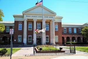 Prince George's County Court House in Upper Marlboro, Maryland
