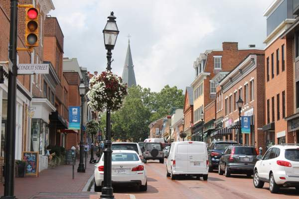 Main Street in Annapolis, Maryland.