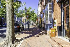 Shops in Old Town Alexandria, Virginia